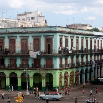 Building on the Prado in Havana, Cuba