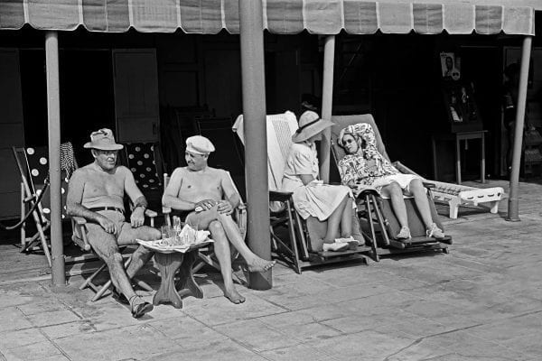 Lounging at a hotel in Miami Beach, 1939