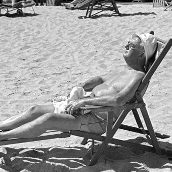 Lounging on Miami Beach, 1939
