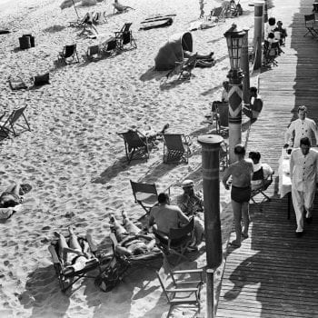 Lunch Setup on Miami Beach, 1939