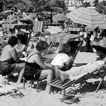 Sunbathers on Miami Beach