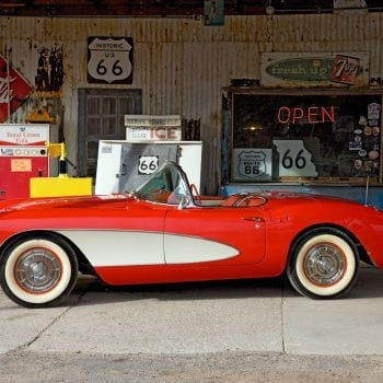 Corvette at the Hackberry General Store