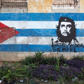 Hand Painted Mural of Che Guevara